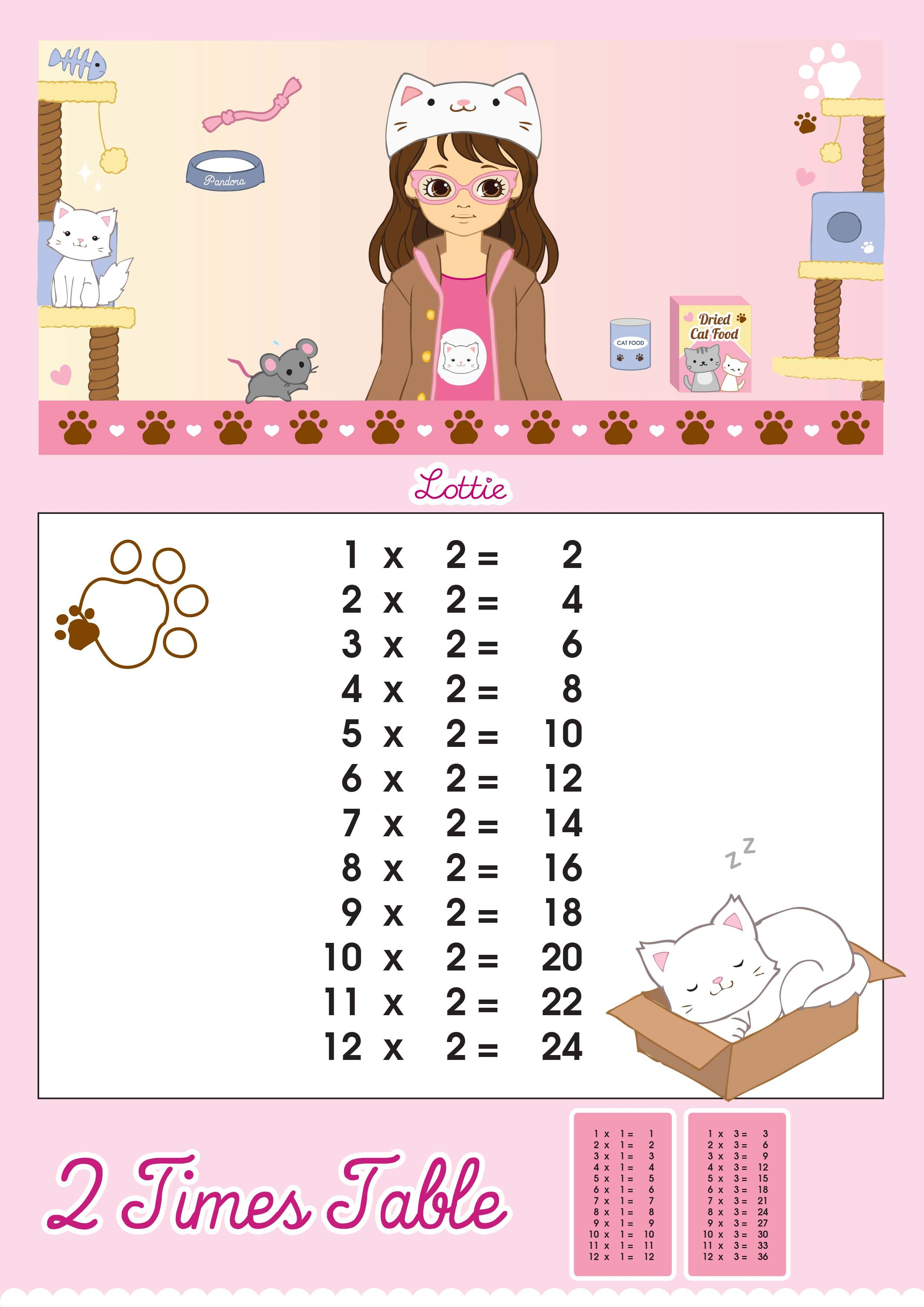 Lottie Doll Printable 2 Times Tables 2 480 3 507