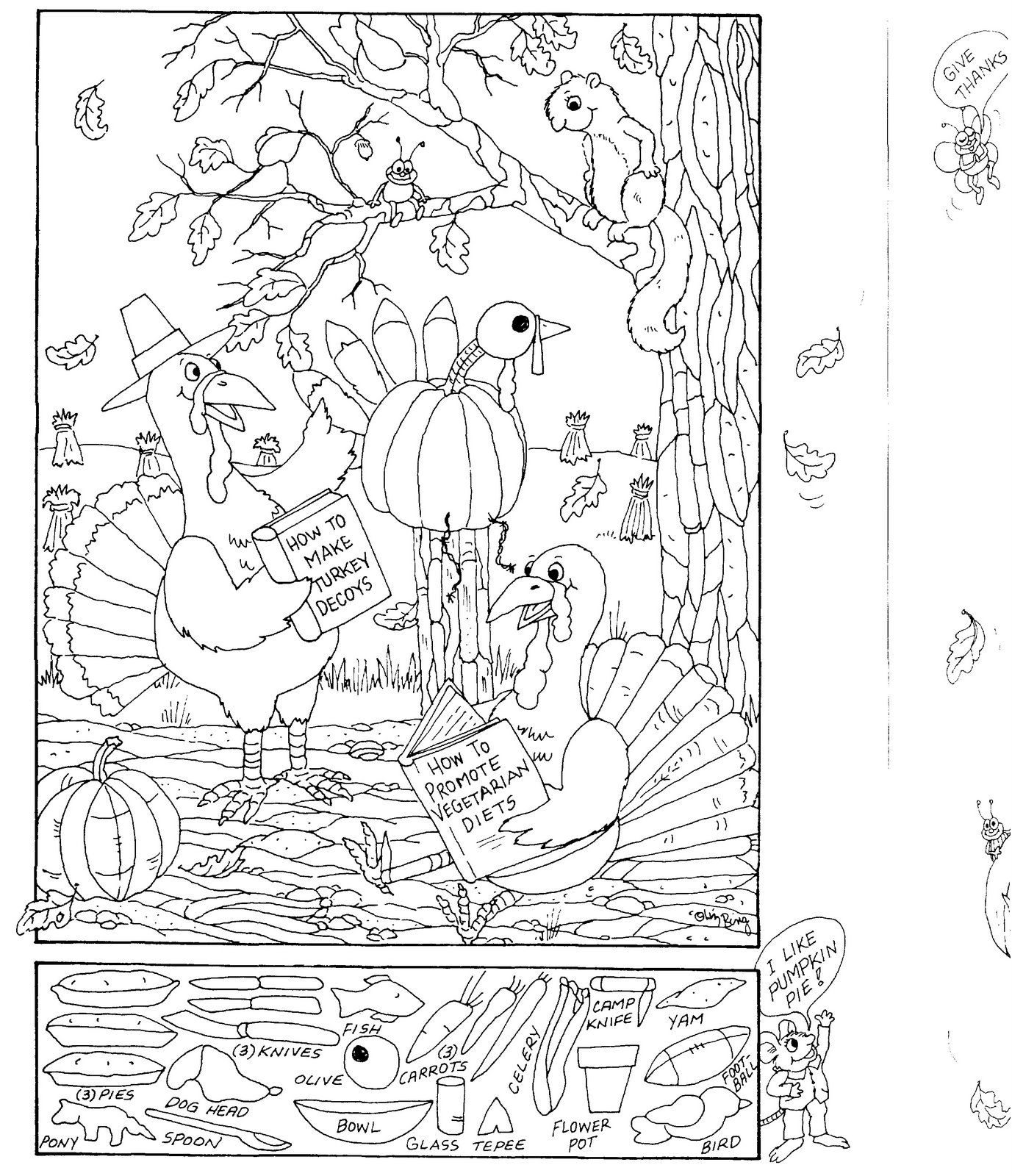Hidden Pictures Publishing: Coloring Page and Hidden