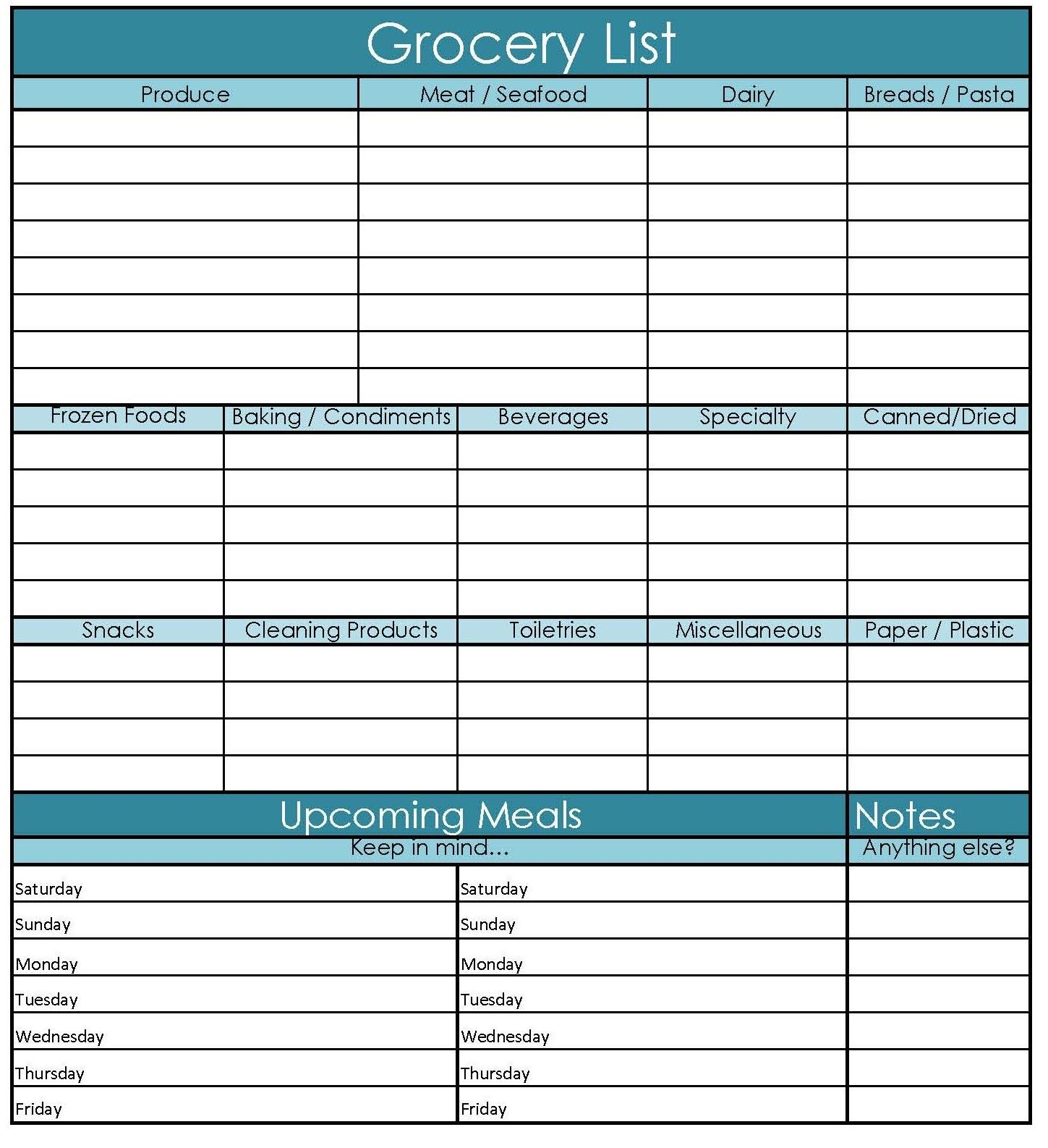This Is So Handy Must Print Printable Grocery Shopping