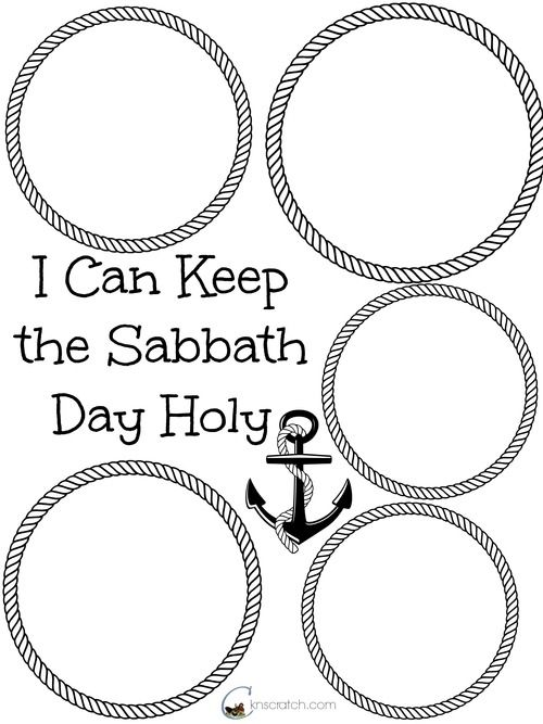 I can keep the Sabbath Holy...Primary 6 Lesson helps