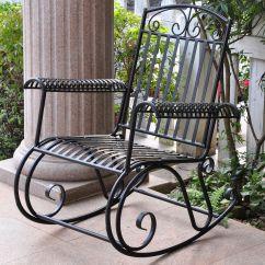 Iron Rocking Chair Most Expensive Gaming International Caravan Tropico Porch Rocker
