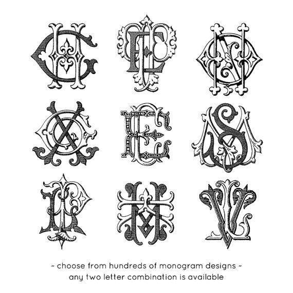 Vintage monogram machine embroidery file by