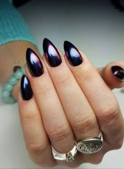 black chrome nails ideas