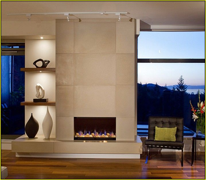 modern tiled fireplaces