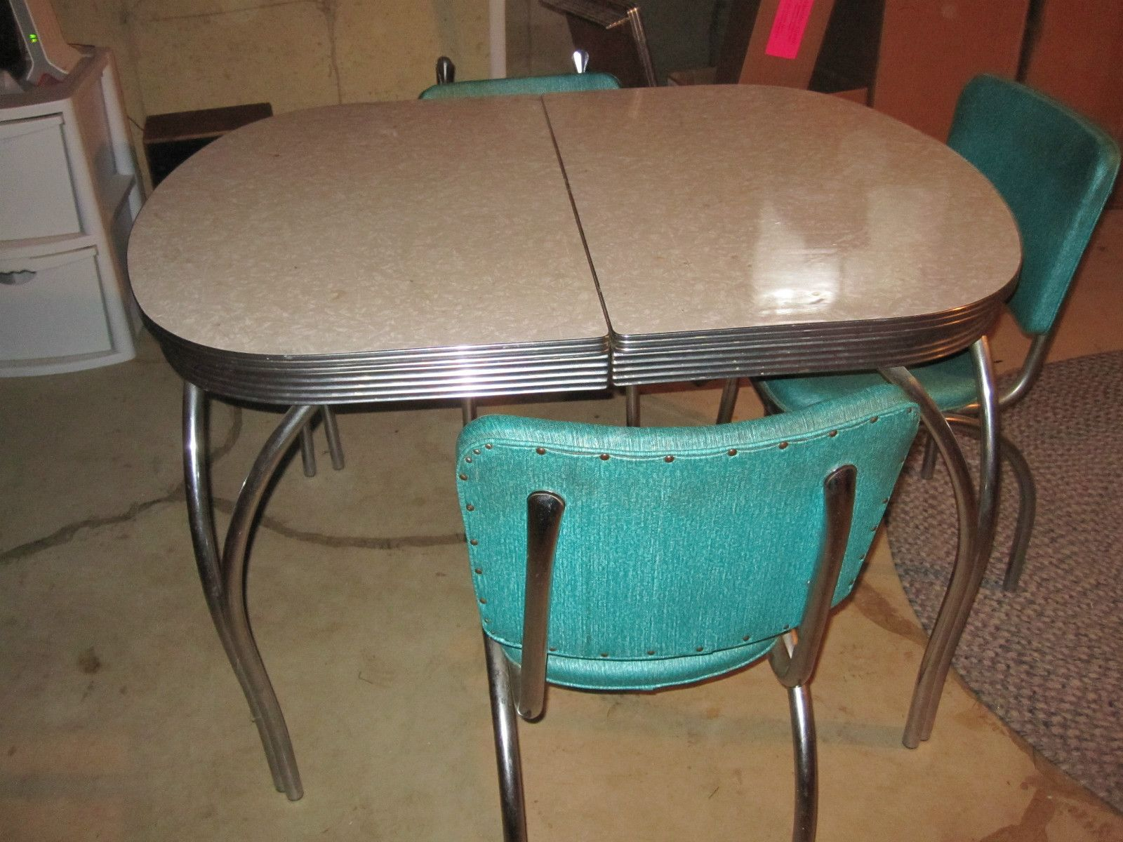 Formica Table And Chairs Retro 1950s Formica Kitchen Table Chairs X Leaf Good