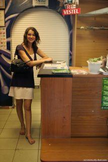 Office Women Barefoot at Work