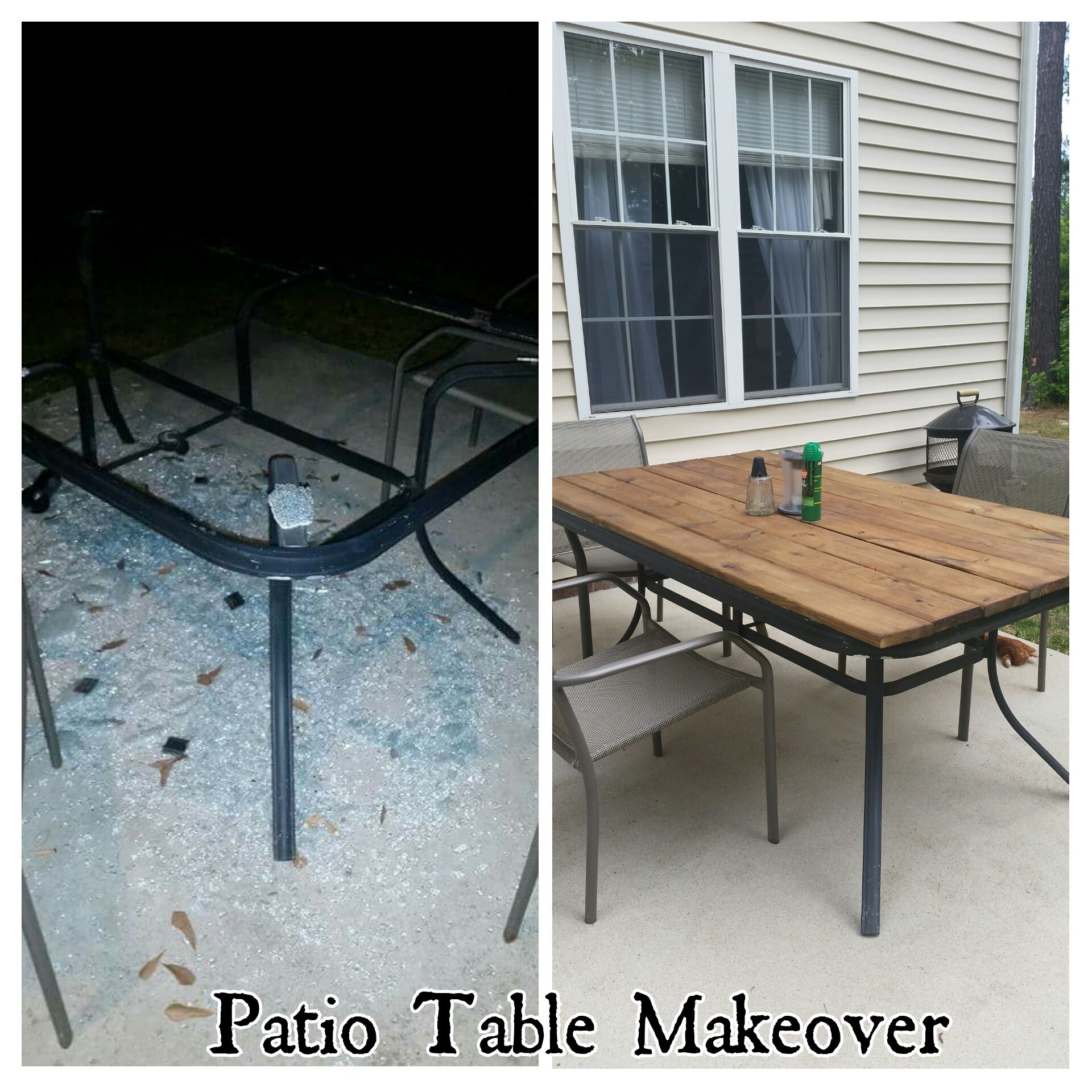 Patio Table Makeover, Shattered Glass, Redo  My Projects