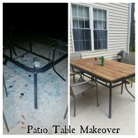 Patio Table Makeover, Shattered glass, Redo | My projects ...
