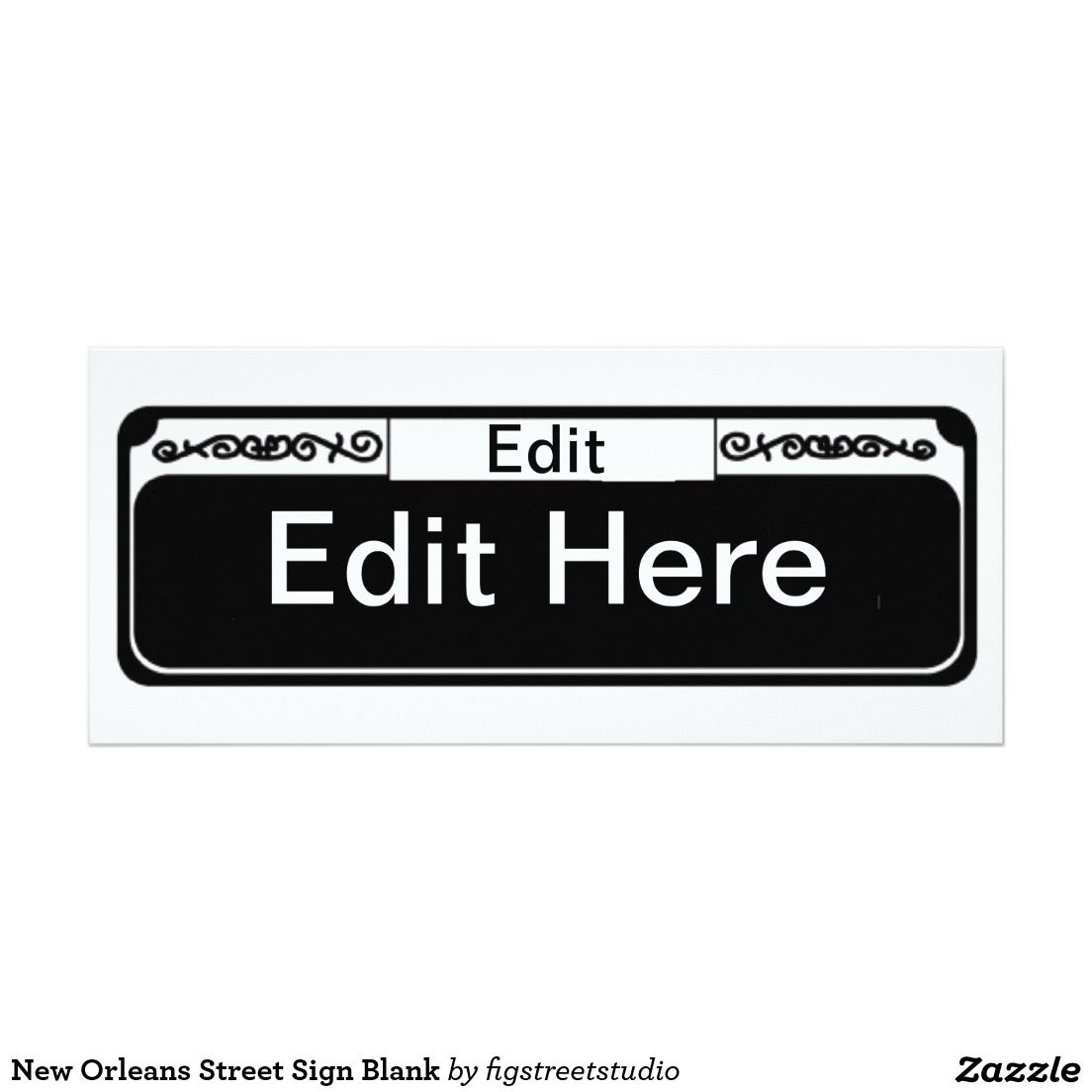 New Orleans Street Sign Blank 4x9 25 Paper Invitation Card