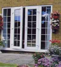 french doors to screened porches