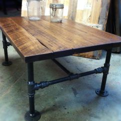 Industrial Kitchen Table Island Stainless Steel Top Cast Iron Pipe Coffee Repurposed Stuff
