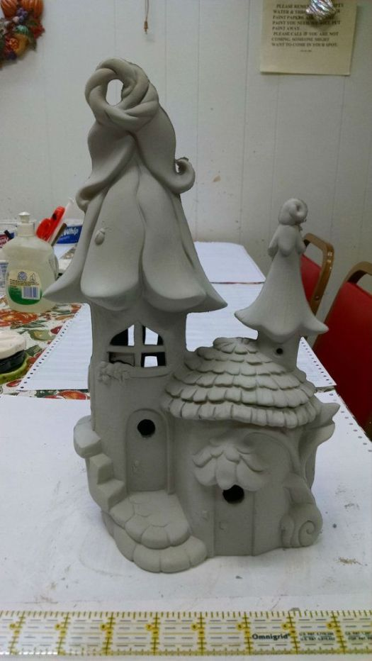 Elf Or Fairy House And Home Unpainted Ceramic Bisque Ready To Paint Diy 250