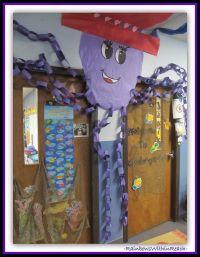 Ocean Octopus Decorated Classroom Door {Ocean RoundUP over ...