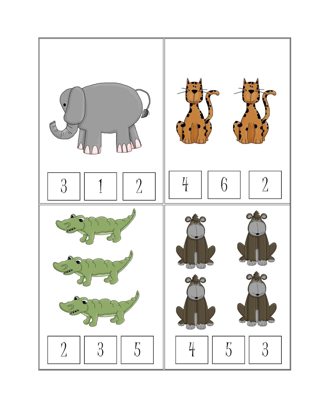 Preschool Printables Free Safari Printable