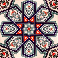 White, blue and red. Istanbul Turkish tile. | Pattern ...