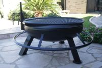 Deep Bowl Round Fire Pit With Grill 42'' diameter deep ...
