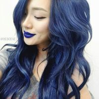 5 Fabulous Hair Color Ideas for Summer - | Dark blue hair ...