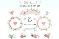 Check out floral clip art set by The little cloud on ...