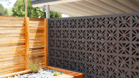 midcentury modern brick screens. A classic. Think