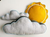 Sun and Cloud Pillows by CecilClyde via Etsy. | baby ...