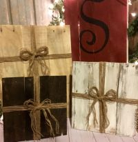Wood Christmas Presents, Pallet Presents, Country ...