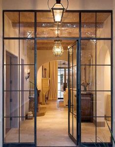 Steel entry door by rehme custom ironwork in place of french doors ideas for entrance also home inspirations rh pinterest