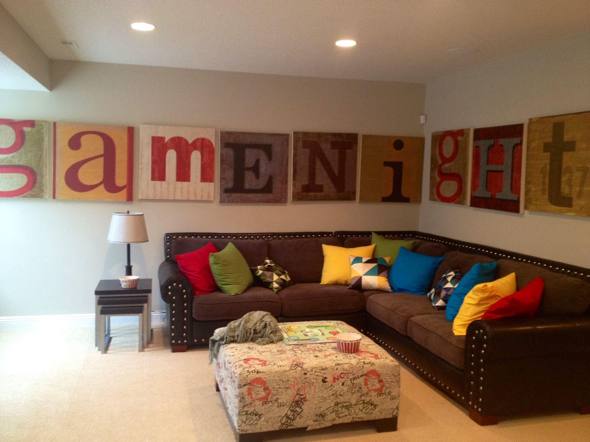 fun family room  decorhome  Fun Family room wall art maybe we need a less ordinary living