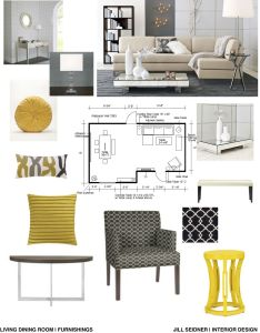 Concept board for an apartment living and dining room mood interiorinterior design also kitchen by abrid interior ideas pinterest rh