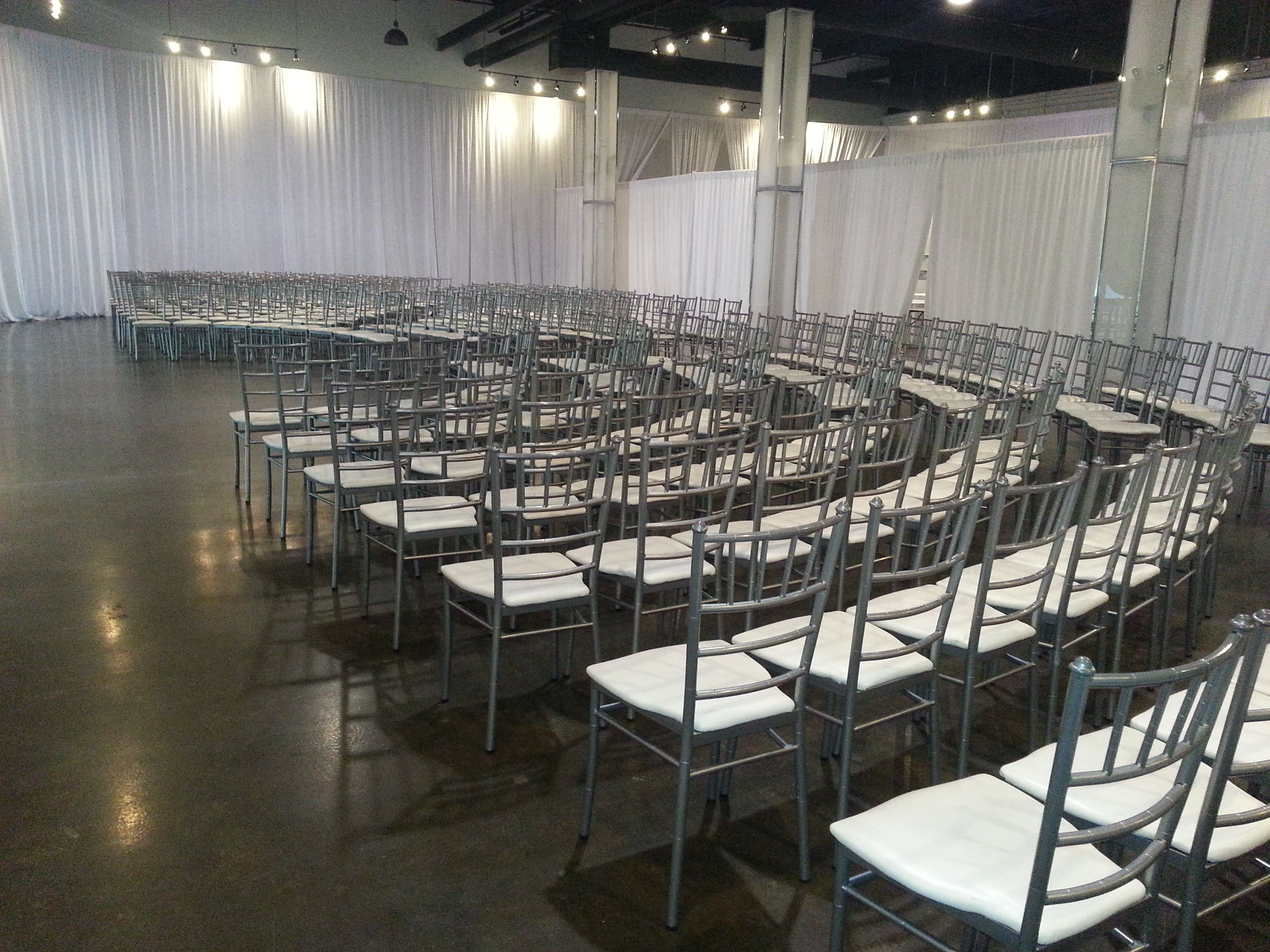 chiavari chairs wedding ceremony big and tall dining room setting up for a at the warehouse event