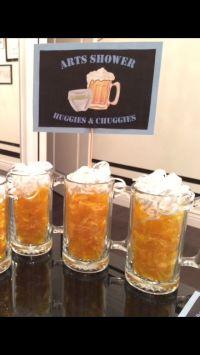 Man shower beer mugs Huggies and Chuggies Centerpieces ...