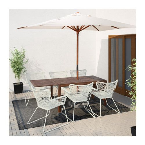 Pplar H Gsten Table Chairs W Armrests Outdoor Ikea