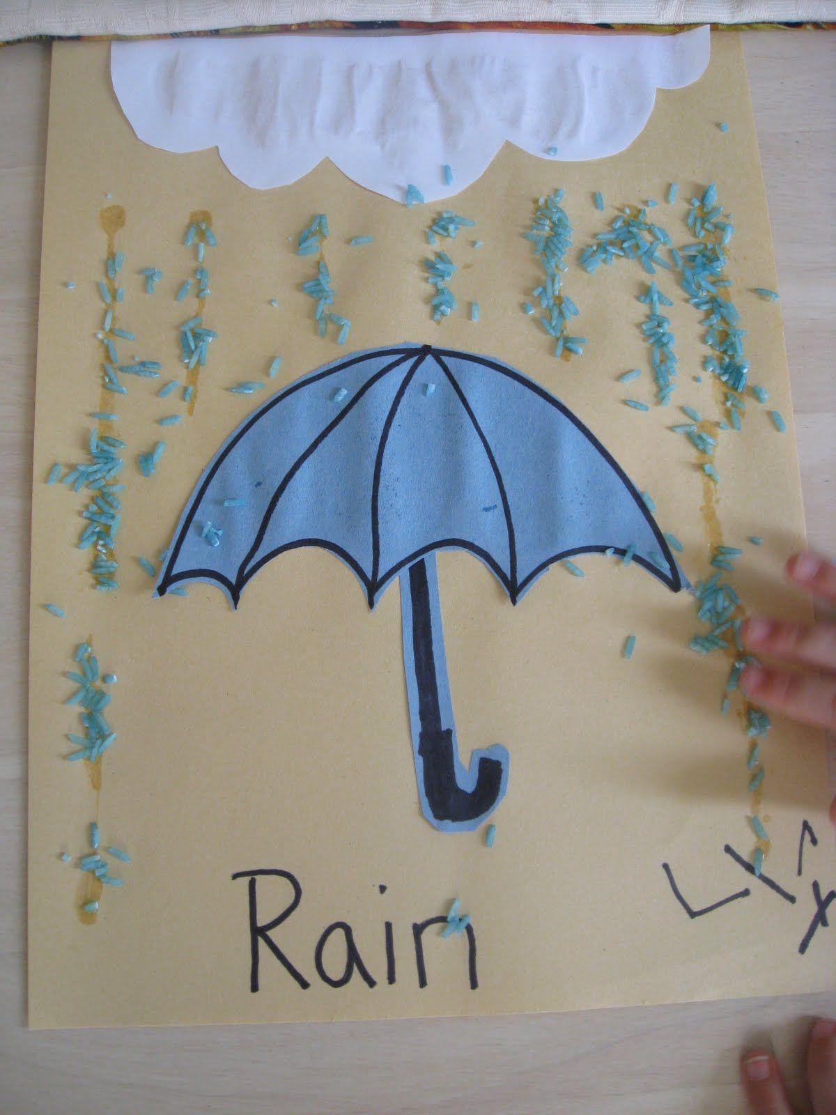 Rain Crafts For Kindergarten