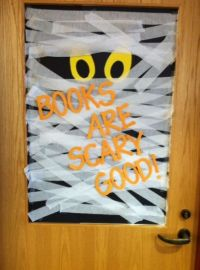 Fall Decoration | Library decorations, Halloween displays ...