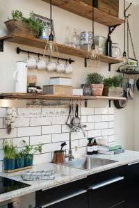 Wall shelves wall tiles kitchen white open | kitchen ...