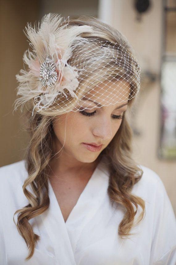 bridal birdcage veil  Hair accessories  Pinterest  Veil Pagan wedding and Wedding fascinators