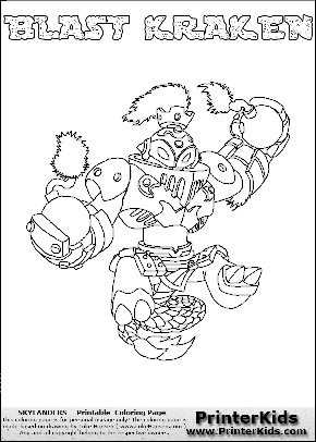 Free printable page for kids coloring with the BLAST