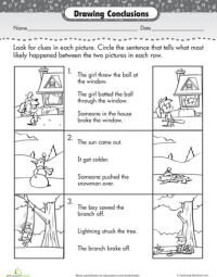 Story Comprehension: Drawing Conclusions | Drawing ...