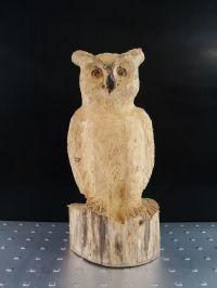 Eule aus Holz, Kettensge Schnitzereien - Figuren ...