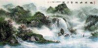 Beautiful Mountains and Rivers Landscape Chinese Ink Brush ...