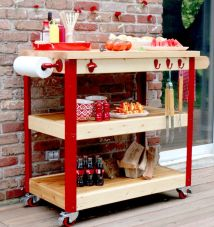 Outdoor Serving Cart Ideas Garden