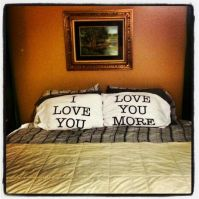 Master Bedroom. His and Her pillows | House and Home ...