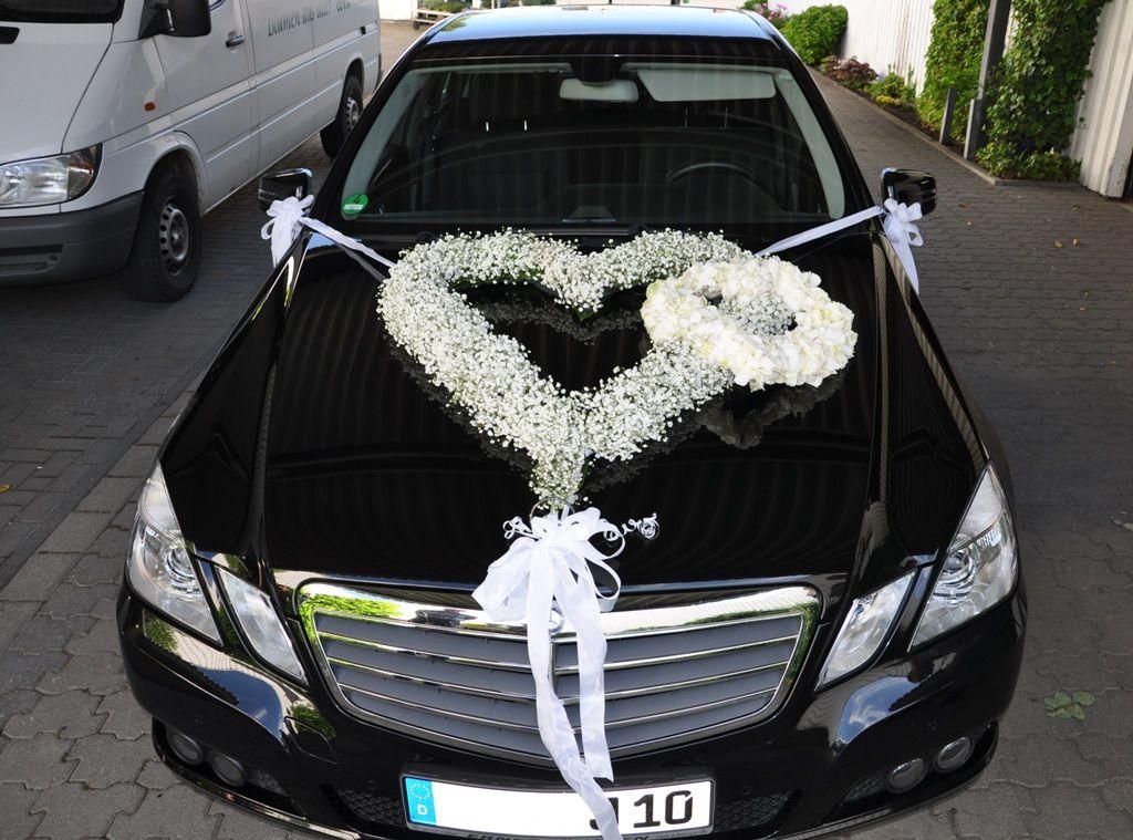 Brautautoschmuck  wedding  Pinterest  Hochzeitsdeko Autoschmuck hochzeit und Autodeko