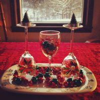 Wine Glass Christmas Centerpiece | Final Products ...