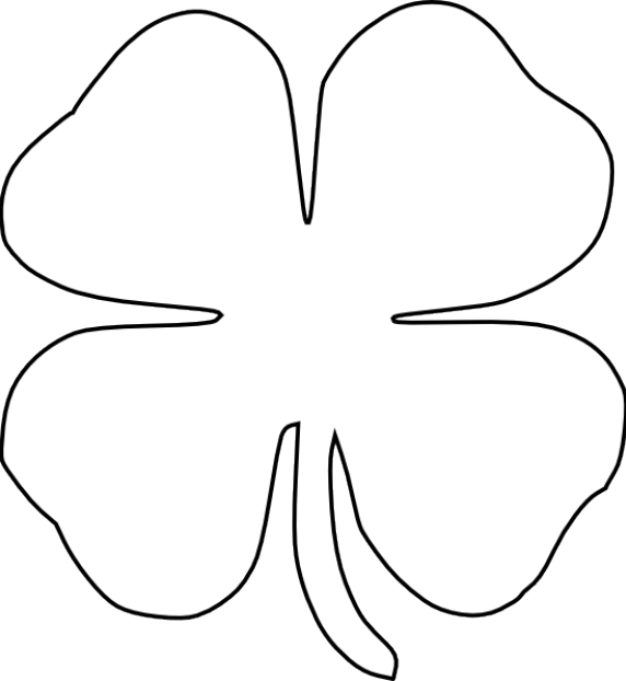 Free St. Patrick's Day Printables: Four Leaf Clover