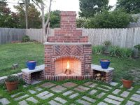 Small Outdoor Brick Fireplaces