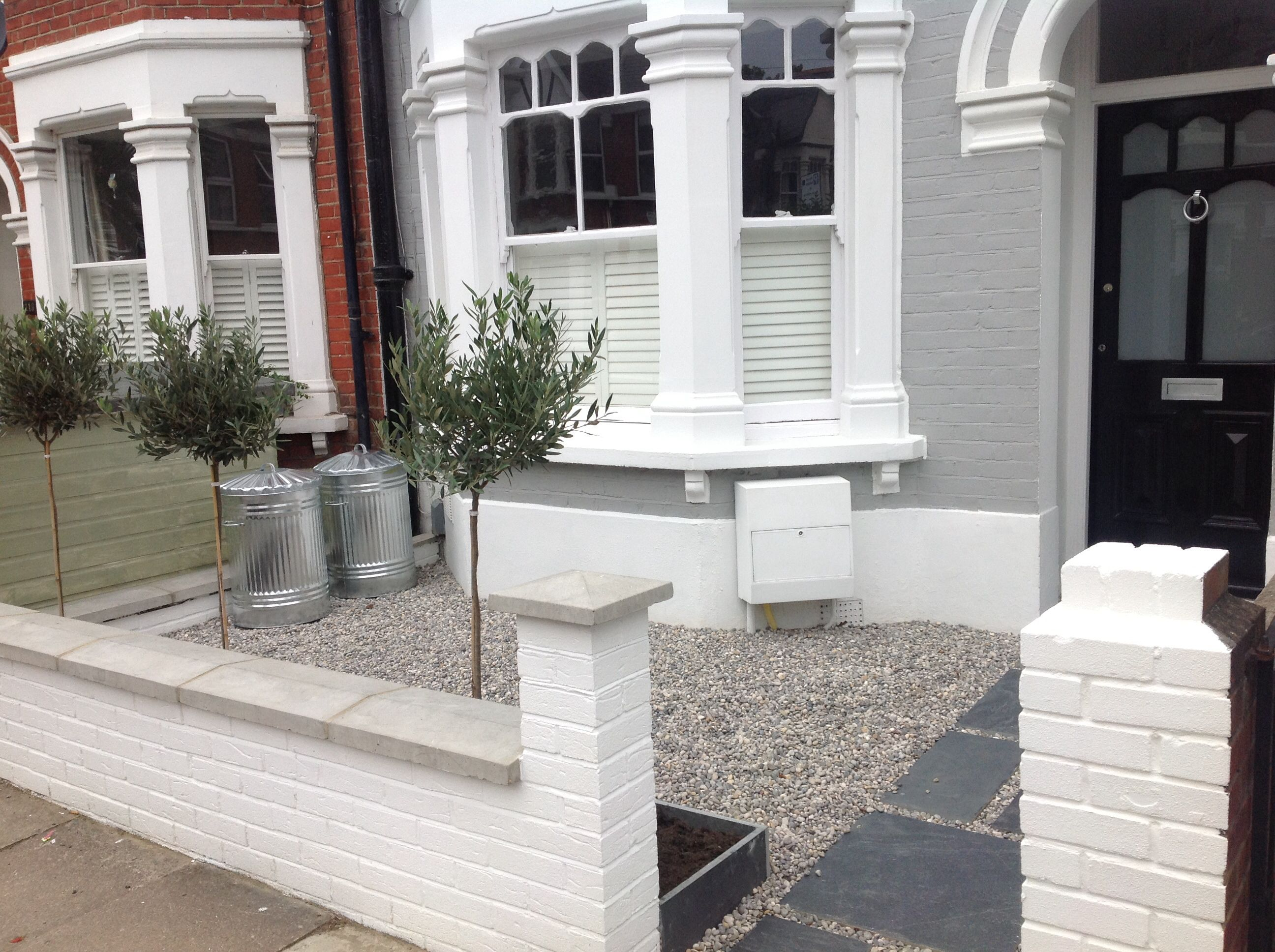 Front Garden Paving And Gravel Theme Love The White Paint On