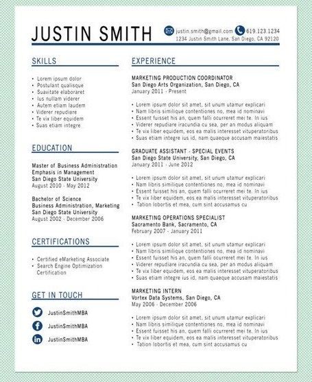 Resume Templates That Stand Out Getresumetemplate Info