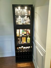 IKEA Liquor Cabinet Build | Liquor cabinet, Liquor and Bar