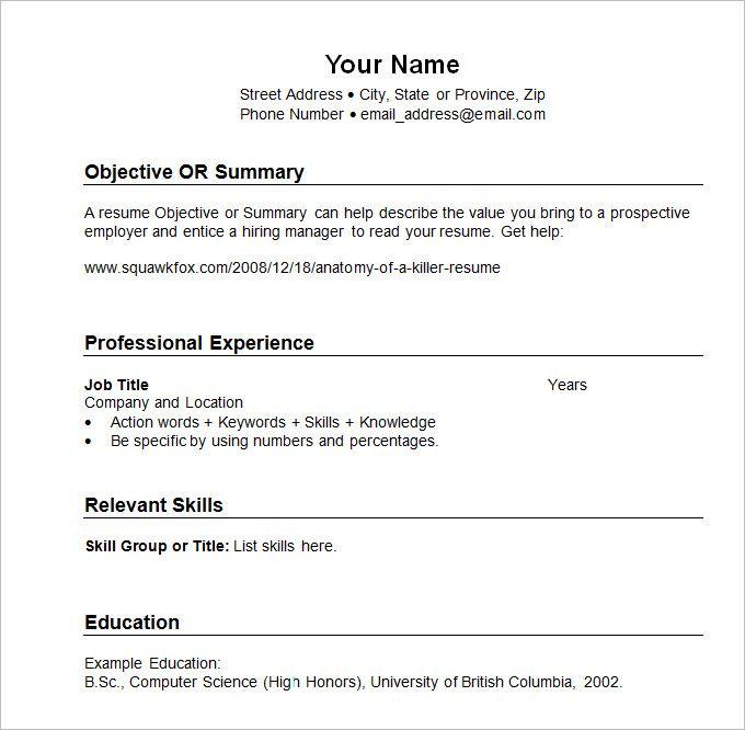 Sample Resume Templates Chronological What Chronological Resume