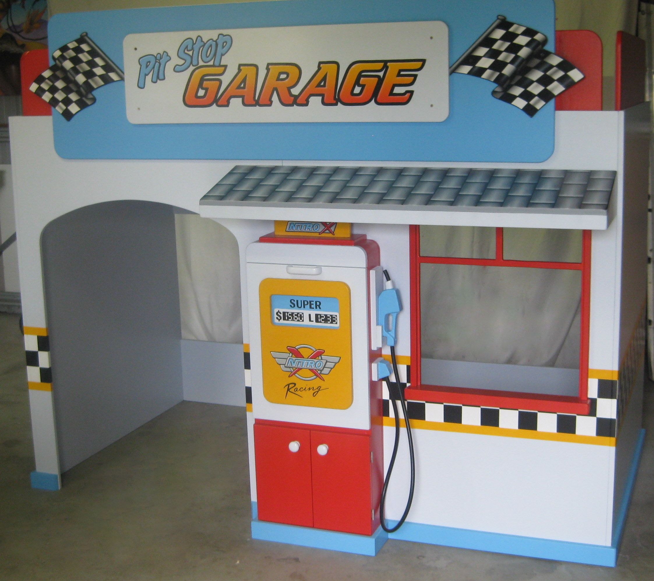 Awesome Boys Garage Playhouse Loft Bed By Kidspace